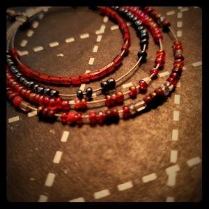 Beaded earrings hippy earrings